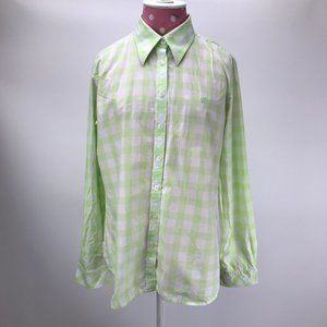 Vintage Lilly Pulitzer Green/White Gingham Shirt